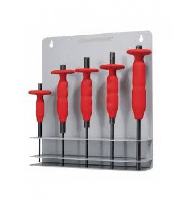"""Five pin punch set with """"Airgrip"""" handle grip"""