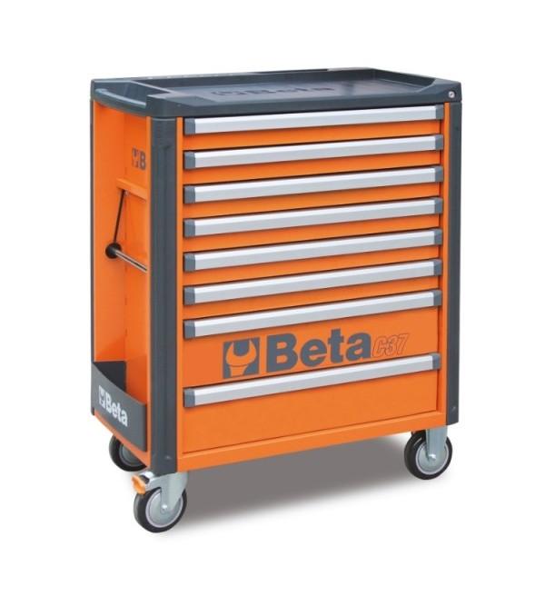Carrello Porta Utensili 8 cassetti Arancione Vuoto...