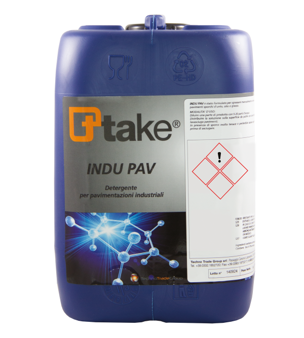 Concentrated floor detergent INDU PAV Ttake 5lt
