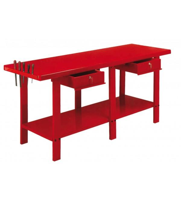 Banco da lavoro 2 metri 2 cassetti Rosso Derby GR72-S