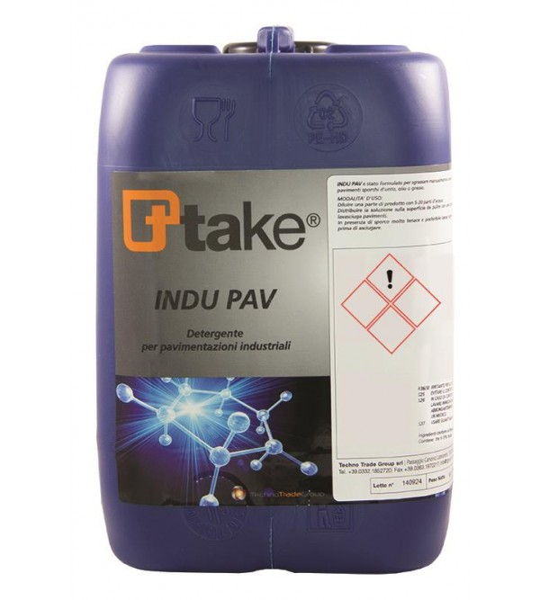 Concentrated floor detergent INDU PAV Ttake 30lt