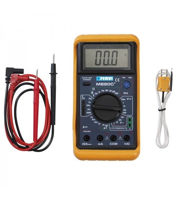 Multimetro digitale temperatura Fervi T050
