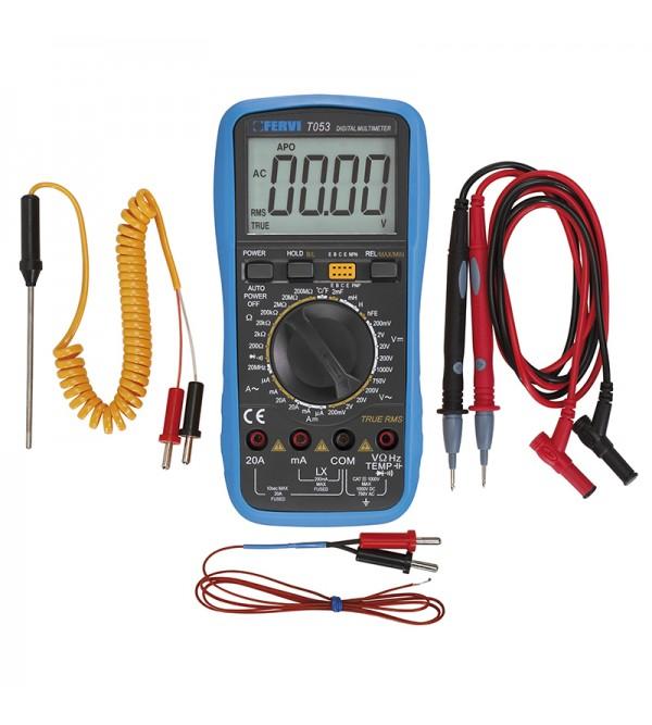 Multimetro digitale temperatura Fervi T053