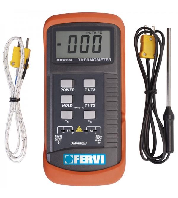 Misuratore di temperatura con sonde Fervi T063