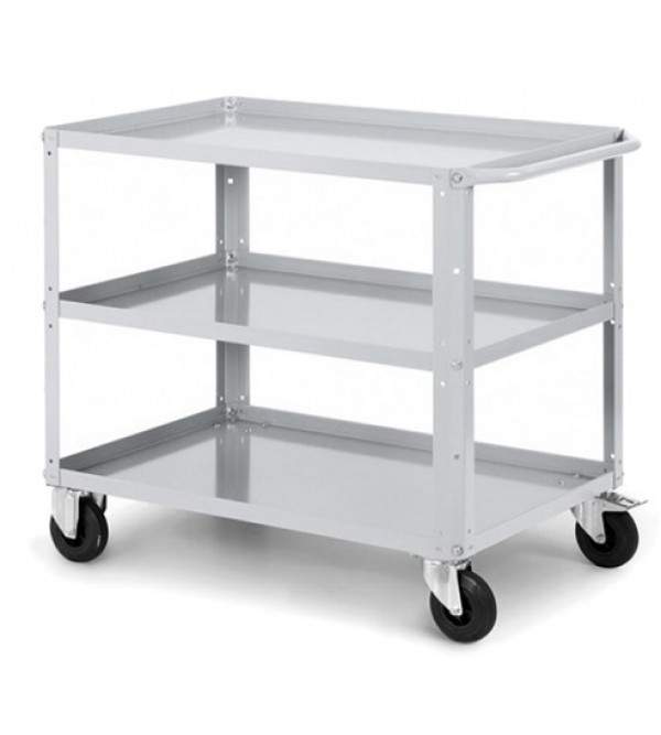 Trolley with 3 shelves Grey Ral