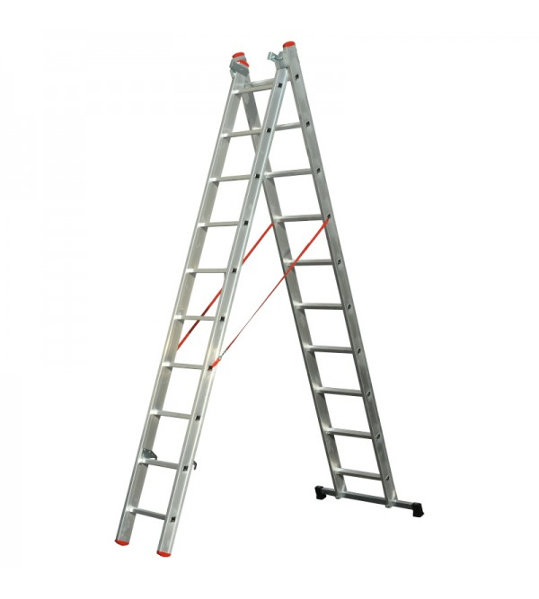 Scala 2 rampe con 10 gradini
