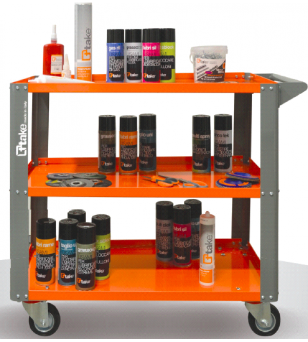 Tool trolley with 3 shelves 100X600X825HMM LARGE